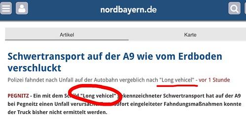 """""""Long Vehicel"""" - der Rechtschreibfehler könnte helfen, den Täter zu überführen • <a style=""""font-size:0.8em;"""" href=""""http://www.flickr.com/photos/77921292@N07/24388880554/"""" target=""""_blank"""">View on Flickr</a>"""