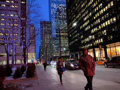 walk (Ian Muttoo) Tags: toronto ontario canada gimp bluehour tdcentre torontodominioncentre 20160210180219edit