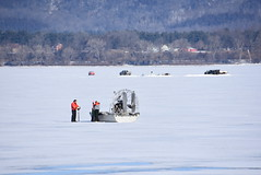 Corps takes first Lake Pepin ice measurements of the season (USACE HQ) Tags: navigation lakepepin usarmycorpsofengineers corpsofengineers stpauldistrict icemeasurements