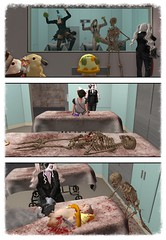 (dorothymagic) Tags: skeleton room chainsaw hamster operating katakana tanpapa