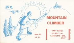 Runnin Bare #16: Mountain Climber - Lafayette, Oregon (73sand88s) Tags: mountain oregon vintage lafayette climbing qsl cbradio runninbare