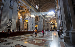 St. Peters church (Jose A. Portero) Tags: light shadow italy rome color roma luz monument architecture arquitectura italia monumento sombra
