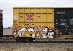 Goul (quiet-silence) Tags: railroad art train graffiti railcar boxcar graff d30 freight ghoul ttx fr8 ghouls a2m fbox fbox504003