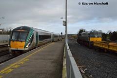 22017 arrives at Portarlington, 1/2/16 (hurricanemk1c) Tags: irish train rail railway trains railways irishrail rok rotem portarlington 2016 icr iarnród 22000 22017 éireann iarnródéireann 4pce 1320heustonportlaoise