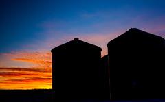 Silo Silhouette Time (stevenbulman44) Tags: winter cold color silhouette canon landscape farm bluesky silo alberta lseries 2470f28