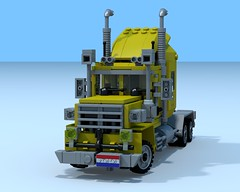 Yellowhead Transport (The Driving Dutchman) Tags: truck lego lorry logistics povray ldd legodigitaldesigner ldd2povray