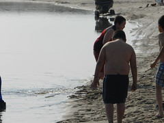 Going swimming at Long Point August 2015 27 (cambridgebayweather) Tags: swimming nunavut cambridgebay arcticocean dominicsim