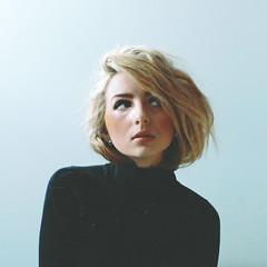 (Courtney Emery) Tags: portrait selfportrait black blonde shorthair femalemodel turtleneck
