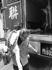 Pig as a Blanket (dltaylorjr) Tags: truck hongkong pork pigs delivery pigtail pigskin centraldistrict