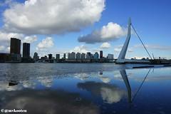 Rotterdam (MichelvanKooten.werkaandemuur.nl) Tags: bridge cloud holland reflection netherlands clouds reflections rotterdam erasmus nederland erasmusbrug weerspiegeling reflectie rdam rotterdamzuid