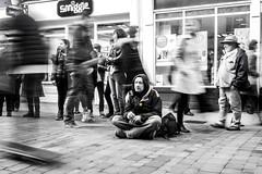 Daydream (Silver Machine) Tags: street people man lumix sitting candid homeless streetphotography streetportrait hampshire smoking winchester lumixg lumixg20mmf17 lumixg5