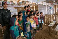 Schoolhouse. Akha village (Laura Jacobsen) Tags: laos hilltribe akha phongsaly phongsali akhanoukouy