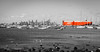 Red Tanker cruising past Williamstown (trevorjphotography) Tags: city panorama seascape water skyline marina buildings boats ship skyscrapers harbour australia melbourne victoria panoramic williamstown yachts ef50mmf18ii tanker blackandwhitewithcolour canon5dmarkii