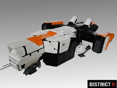 District 9 Dropship (Josiah N.) Tags: lego district 9 spaceship fi sci moc dropship pleasedontexplorethisflickr