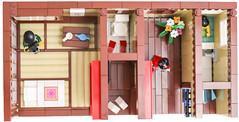 Ryokan () - top (Gzu's Bricks) Tags: brick japan bathroom japanese hotel inn lego tea ikebana mini maiko geisha tatami ryokan yukata kimono minifig futon figurine japon furo ocha th afol ofuro kakemono gzu gzubricks