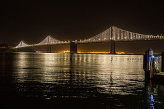 San Franscisco Waterfront at night (DavezPicts) Tags: ca bridge water night waterfront sanfranscisco oaklandbaybridge