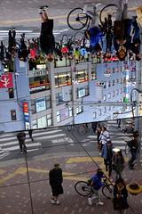 People /  (marumeganechan) Tags: people mirror snapshot fujifilm passerby invert  passer     x100t