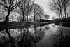 Commute:  Do I take the bike or the Canoe? (Ian Hayhurst) Tags: rain puddle lunch walk commute moist