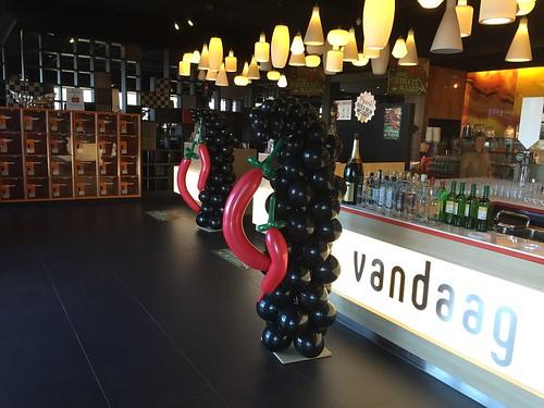 Ballonpilaar Spaanse Pepers Restaurant Vandaag Amsterdam