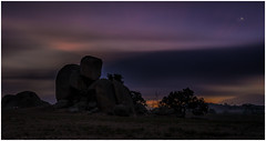 Into the night (RissaJT_23) Tags: nightphotography sunset moon night clouds canon rocks colours country nightsky australianlandscape crescentmoon countryvictoria australiancountry canon1740mm canon6d canoneos6d