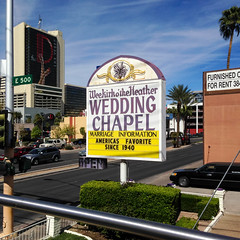 Las Vegas vacation: Day 2 (early days) Tags: city las vegas wedding vacation tourism architecture buildings shopping fun desert heather nevada fame chapel casino resort entertainment strip wee nightlife expensive gamble kirk the othe