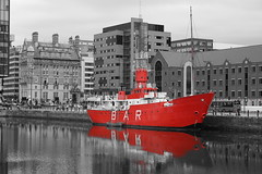 Canning Dock - Liverpool (Chris Dimond) Tags: red liverpool reflections ship filter 2015 portofliverpool canningdock