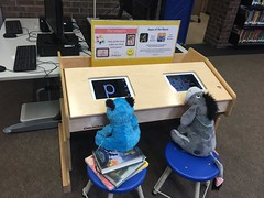 Time to get off the ipads! (scotchplainspubliclibrary) Tags: animal stuffed sleepover scotchplains scotchplainspubliclibrary