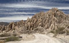 Quebrada de Las Flechas (Gdemiceu) Tags: road sky mountains argentina ruta clouds landscape rocks camino path paisaje cielo nubes salta montaas cachi ruta40 cafayate 100faves quebradadelasflechas world100f canon7d