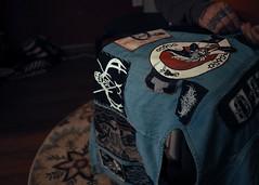 4/14/16 (tealeemay) Tags: people metal pen coat olympus jacket denim vest olympuspen patches el7 metalpatches