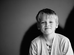 { cheeky bear } (Web-Betty) Tags: boy portrait blackandwhite kid naturallight bnw fujineopan400 thebear embracetheblur