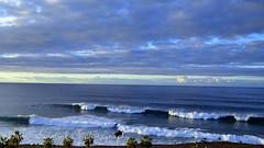 Waves and clouds #2 (suominensde) Tags: ocean sky espaa cloud landscape coast seaside spain waves outdoor horizon shore cielo tenerife serene olas atlanticocean nube horizonte oceano sereno oceanoatlantico d3100