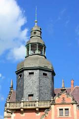 123_1323 Mit Schiefer verkleideter Turm der Alten Post in Blankenburg. (stadt + land) Tags: fotos stadt architektur turm bilder harz blankenburg schiefer altepost sachsenanhalt landkreis verkleideter
