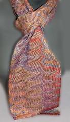 double weave orange and blue (Zip Eye) Tags: scarf handwoven doubleweave