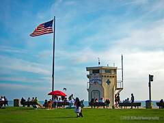 Lifeguard Tower... (HLHullPhotography) Tags: beach landscapes lifeguardtower oldglory mainbeachpark