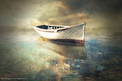 lost city (evenliu photography) Tags: city sky reflection water digital photomanipulation photoshop boat liu search arts surreal manipulation imagine even  finearts    evenliu