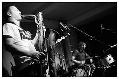 Fire! @ Cafe Oto, London, 26th March 2016 (fabiolug) Tags: leica blackandwhite bw music london monochrome rock 35mm fire drums blackwhite concert bass live voigtlander gig livemusic performance jazz rangefinder trio monochrom sax bassguitar saxophone biancoenero dalston freejazz matsgustafsson leicam johanberthling andreaswerliin voigtlandernokton35mmf14 voigtlandernoktonclassic35mmf14 cafeoto voigtlander35mmf14 mmonochrom leicammonochrom leicamonochrom