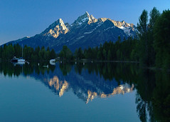Grand Teton Reflection (Stephen Gough) Tags: usa wyoming grandteton jacksonlake colterbayvillage