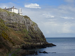 Blackhead, 28th of March 2016 (nathanlawrence785) Tags: county ireland sea cloud lighthouse weather landscape grey seaside spring scenery scene front blackhead co whitehead northern scape lining cumulonimbus antrim 2016