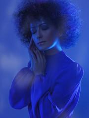 Studio (Sophie Dream) Tags: blue fashion hair studio photography photo model dress sleep dream curly chisinau moldova sophiedream sophiedreamphotography sofiagolovinscaia aidonera
