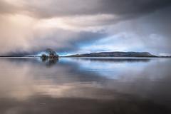 Closing In (Tom_Drysdale) Tags: light cloud snow storm reflection still april loch sands leven kinross burleigh 2016 milnathort