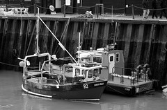 In the harbour. (pstone646) Tags: blackandwhite monochrome boats kent harbour nautical whitstable