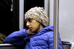Riding the T Late at Night (Read2me) Tags: she woman boston night train subway candid stranger passenger ge rider cye thechallengefactory tcfunanimous pregamewinner