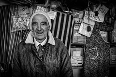 the draper (Gerrykerr) Tags: ireland flickr trim shopkeeper