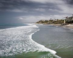 Along the shore. (Jodi Newell) Tags: ocean clouds canon surf waves moody shore southerncalifornia sanclemente jodinewell jodisjourneys jodisjourneysphotosgmailcom