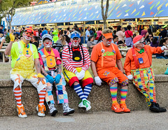 Clown Lineup (Jordan B. Hartman) Tags: park dallas nikon texas outdoor statefair dfw clowns fairpark 1755mm28 d7000