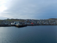 Stromness from the sea -- photo 2 (Dunnock_D) Tags: uk sea sky cloud grey scotland orkney cloudy unitedkingdom harbour stromness