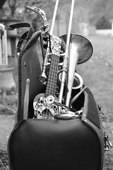 Bote  musique (Hlna du 40) Tags: ukulele percussion trombone saxophone trompette