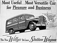 1953 Willys De Luxe Station Wagon (aldenjewell) Tags: station de wagon newspaper ad luxe willys 1953