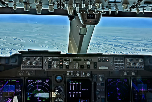 Lufthansa Boeing 747-400 over Greenland (D-ABVW)