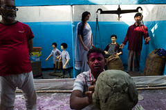 Kolkata (yvernin) Tags: street india color holi kolkata calcuta
